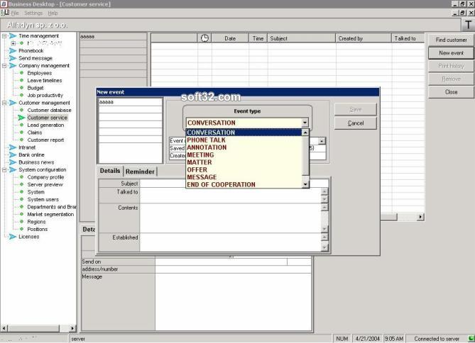 Business Desktop Suite Screenshot