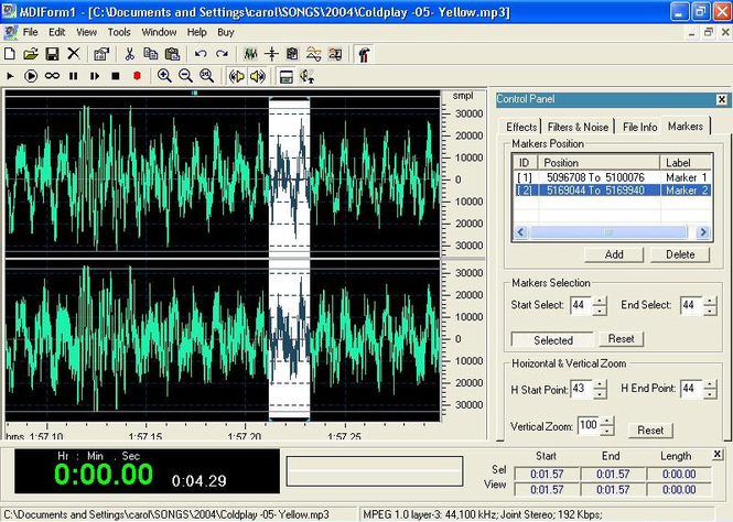 DB Audio Mixer & Editor Screenshot