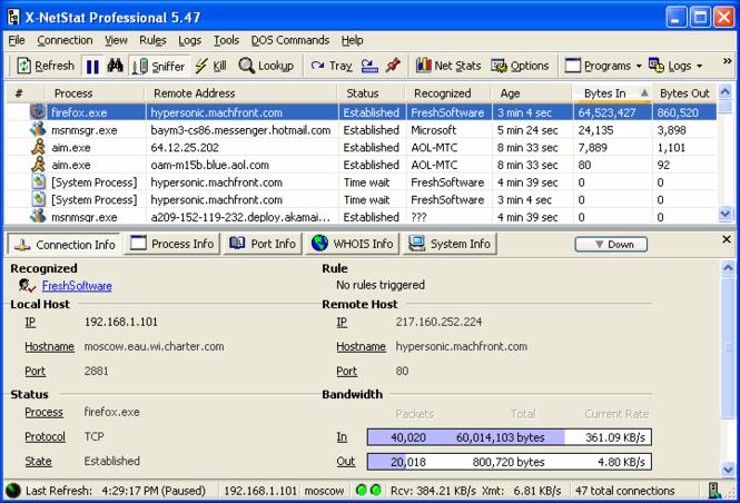 X-NetStat Professional Screenshot 1