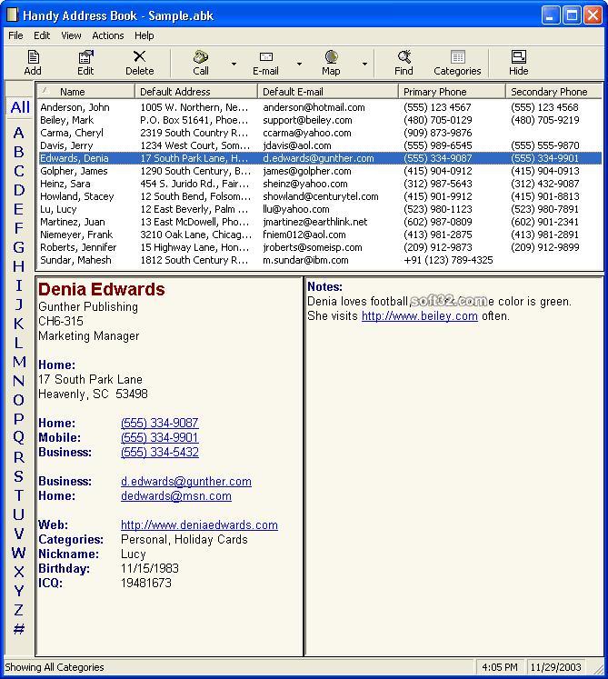 Handy Address Book Screenshot 3