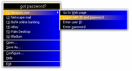 got password? Screenshot