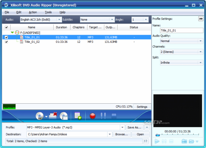 Xilisoft DVD Audio Ripper Screenshot 5