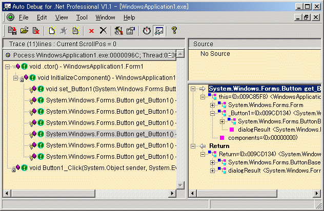 Auto Debug for .Net Screenshot