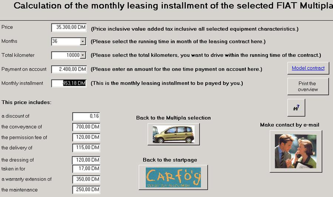 CarRent Access Application Screenshot