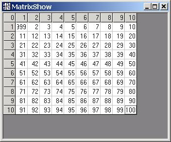 MatrixShow ActiveX Screenshot