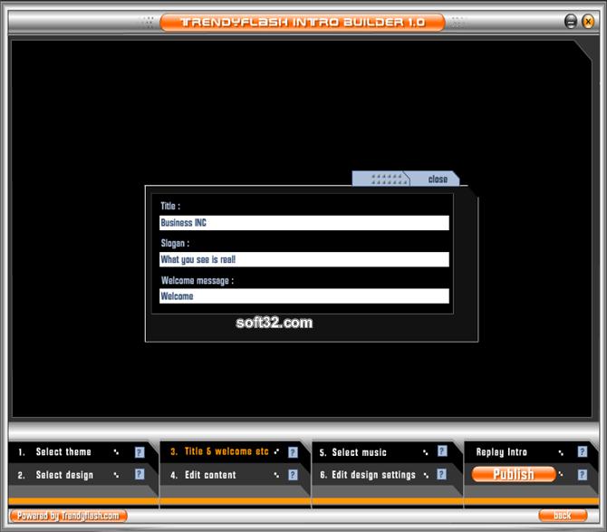 TrendyFlash Intro Builder Screenshot 4