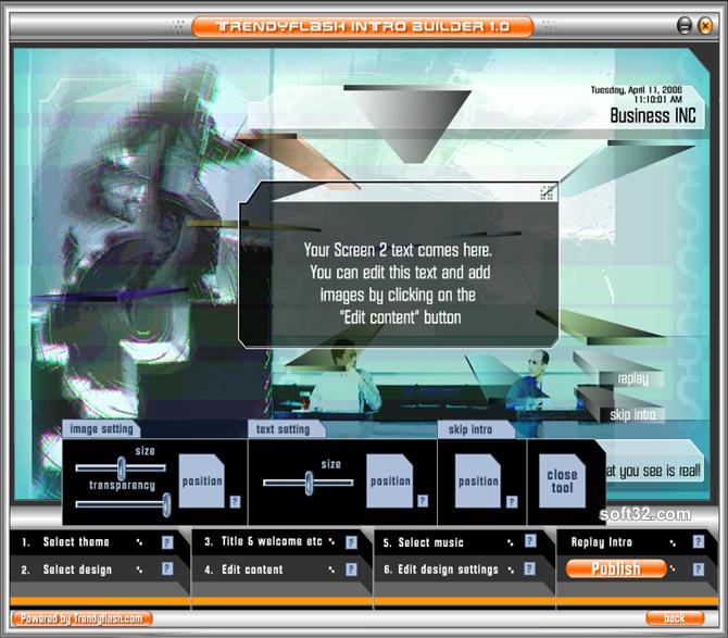 TrendyFlash Intro Builder Screenshot 5