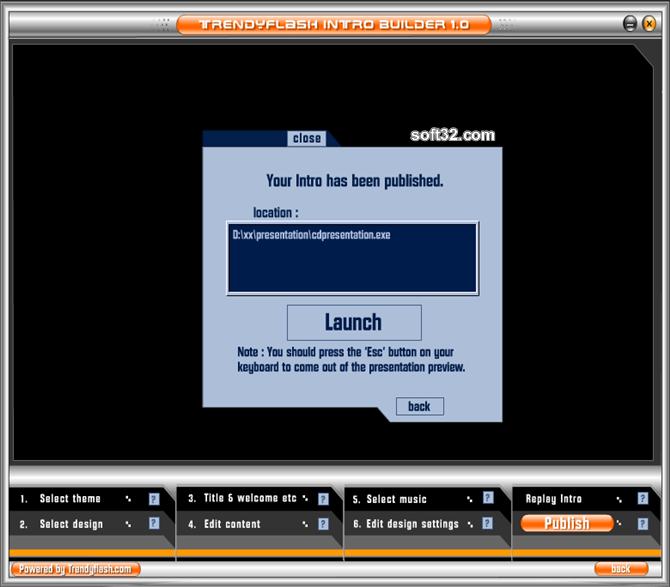 TrendyFlash Intro Builder Screenshot 6