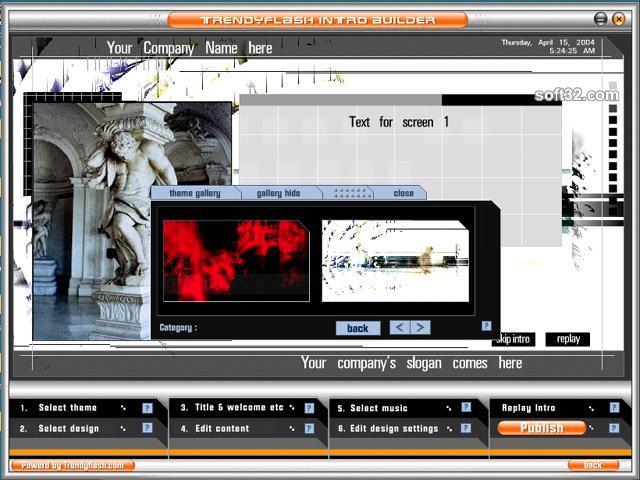 TrendyFlash Intro Builder Screenshot 7