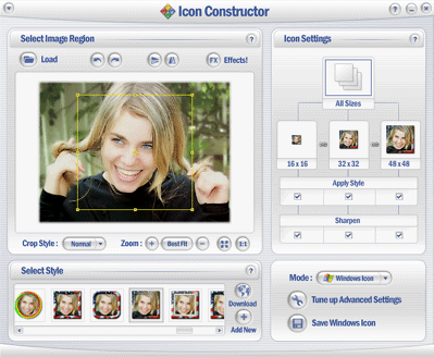 Icon Constructor - advanced icon creator Screenshot