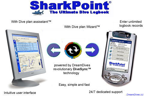 SharkPoint DualPack (PocketPC & Windows), the scuba dive log Screenshot 1