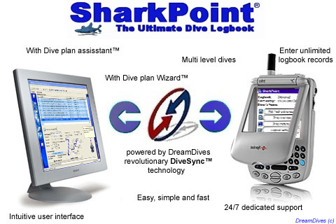 SharkPoint DualPack, the scuba dive log Screenshot
