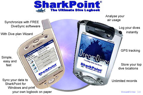 SharkPoint for PocketPC, the scuba dive log Screenshot 1