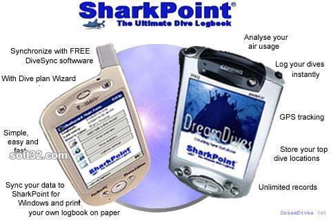 SharkPoint for PocketPC, the scuba dive log Screenshot 2
