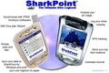 SharkPoint for PocketPC, the scuba dive log 1