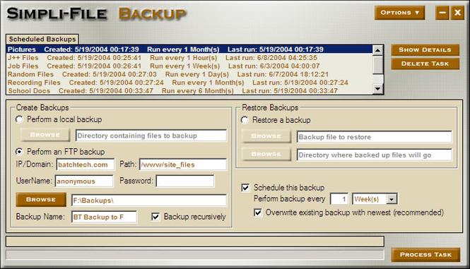 Simpli-File Backup Screenshot 1