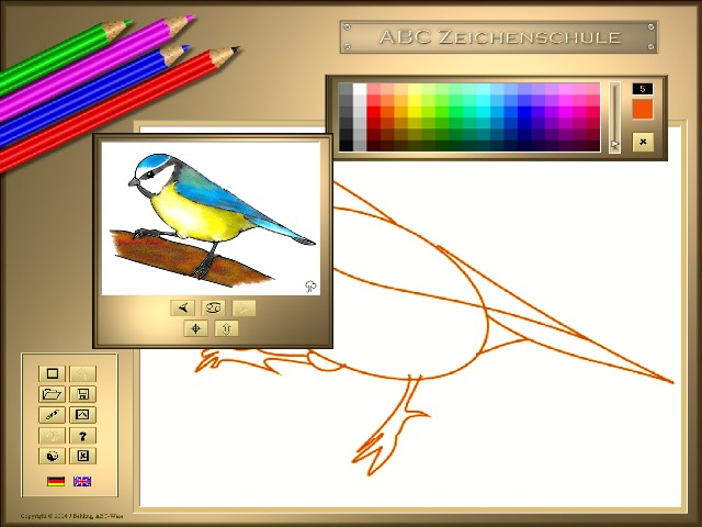ABC Drawing School II - Birds Screenshot 1