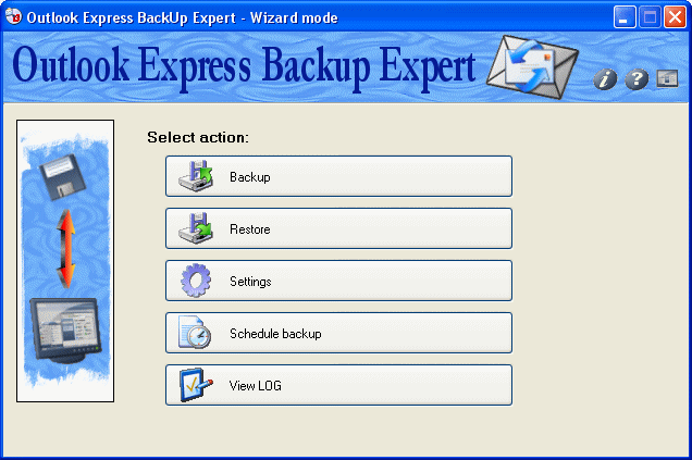 Outlook Express Backup Expert Screenshot