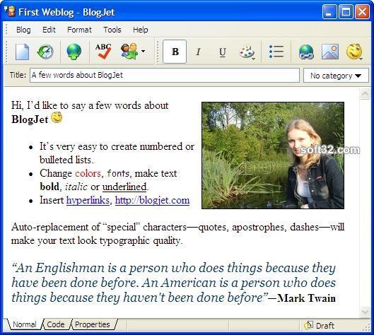 BlogJet Screenshot 1