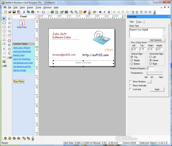 Belltech Business Card Designer Pro Screenshot 3