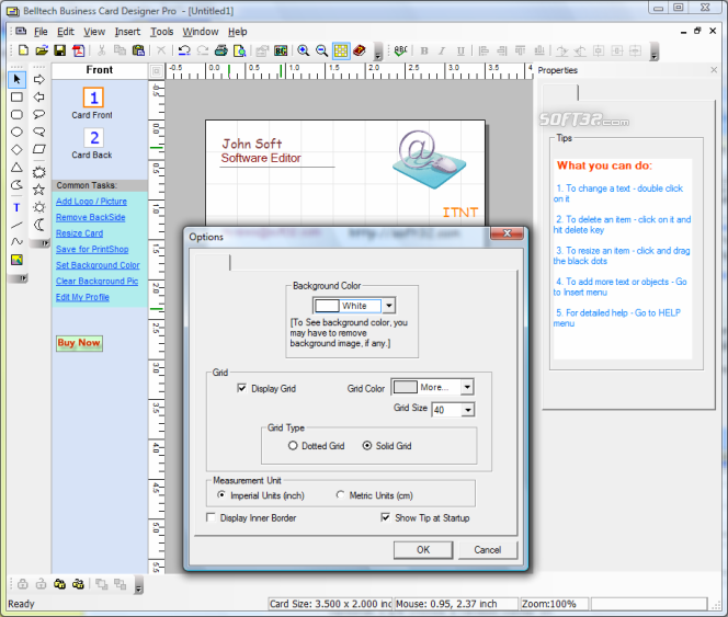 Belltech Business Card Designer Pro Screenshot 5