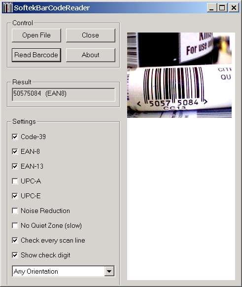 Softek Barcode Reader Toolkit Screenshot 3