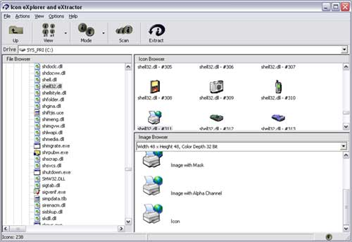 Icon eXplorer and eXtractor Screenshot