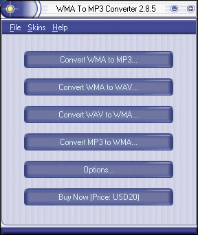 WMA To MP3 Converter Screenshot