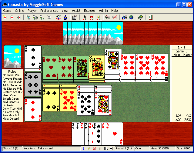 Canasta by MeggieSoft Games Screenshot