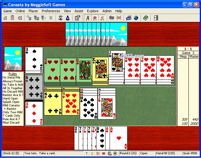 Canasta by MeggieSoft Games Screenshot 2