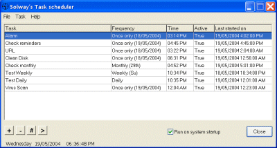 Solway's Task Scheduler Screenshot 1
