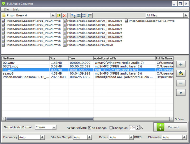DanDans Audio Converter Screenshot