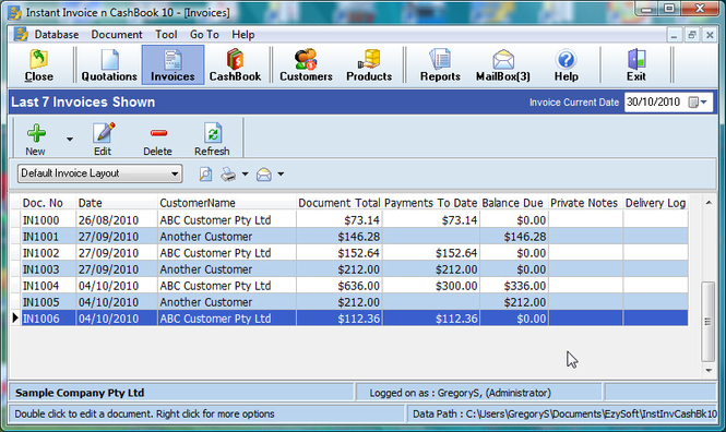 Download Instant Invoice N Cashbook - Invoice 3