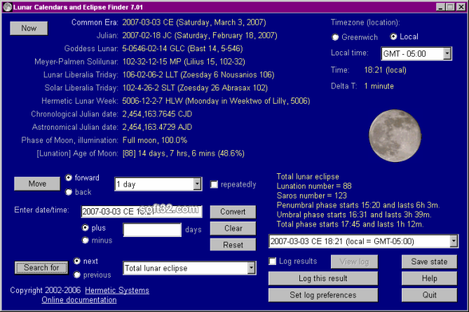 Lunar Calendars and Eclipse Finder Screenshot 3