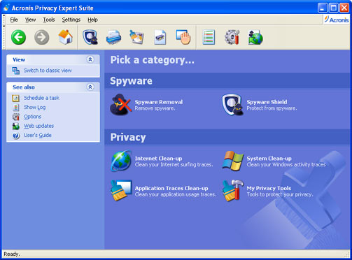 Acronis Privacy Expert Suite Screenshot 1