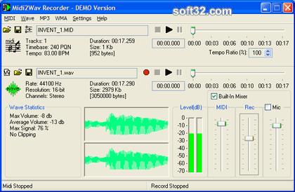 Midi2Wav Recorder Screenshot 3