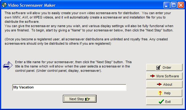 Video Screensaver Maker Screenshot 1