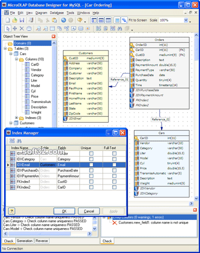 MicroOLAP Database Designer for MySQL Screenshot 3