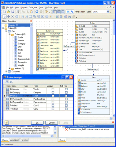 MicroOLAP Database Designer for MySQL Screenshot