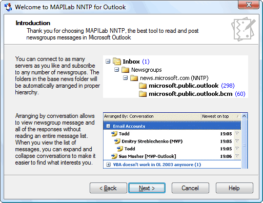 MAPILab NNTP for Outlook Screenshot