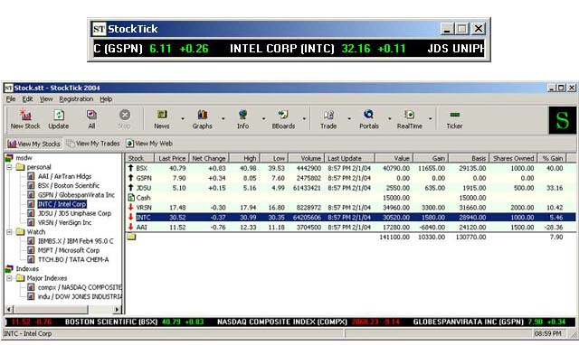 StockTick - Stock Ticker Screenshot