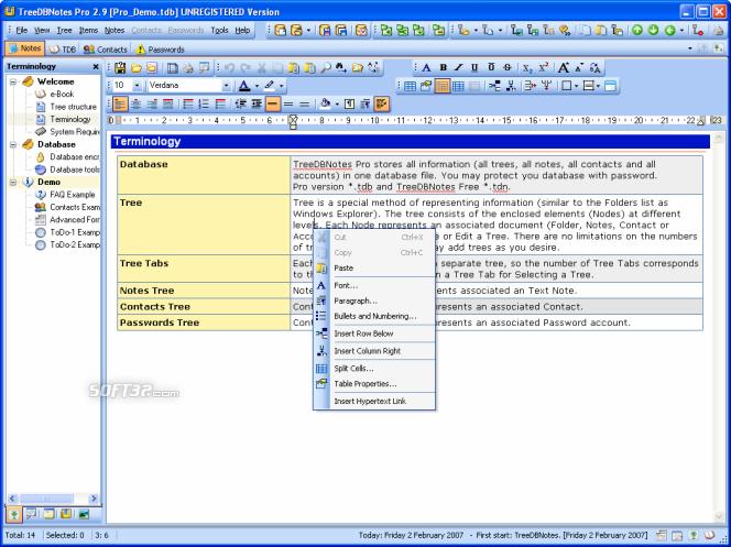 TreeDBNotes Pro Screenshot 3