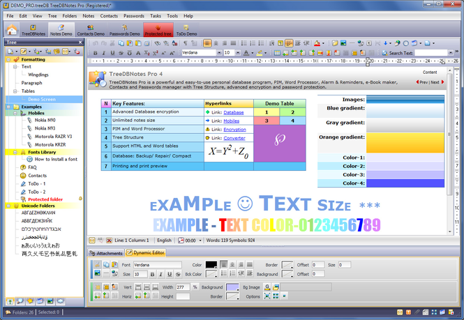 TreeDBNotes Pro Screenshot