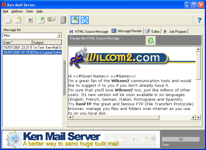Ken Mail Server Screenshot