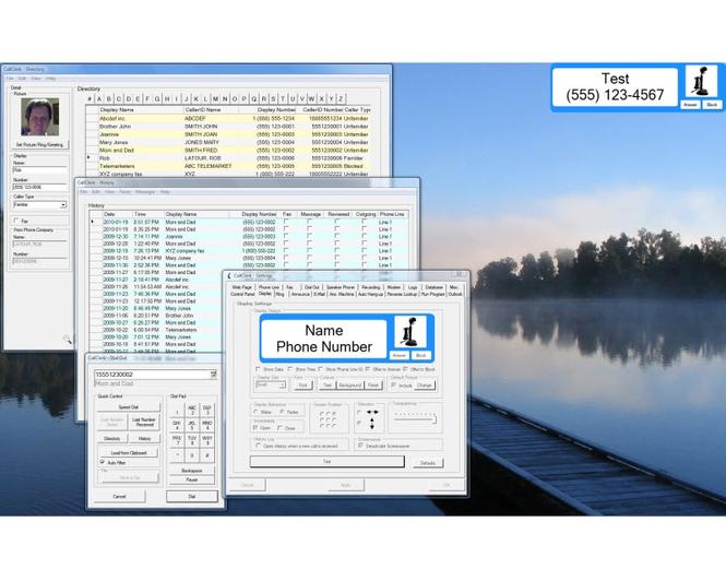 CallClerk Caller ID Software Screenshot