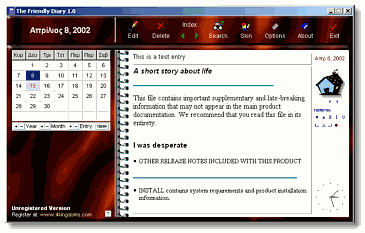 The Friendly Diary Screenshot