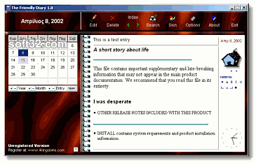 The Friendly Diary Screenshot 2