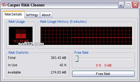 Casper RAM Cleaner Screenshot 3