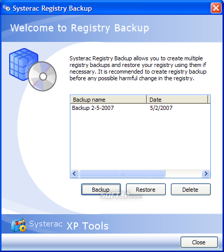 Systerac XP Tools Screenshot 6