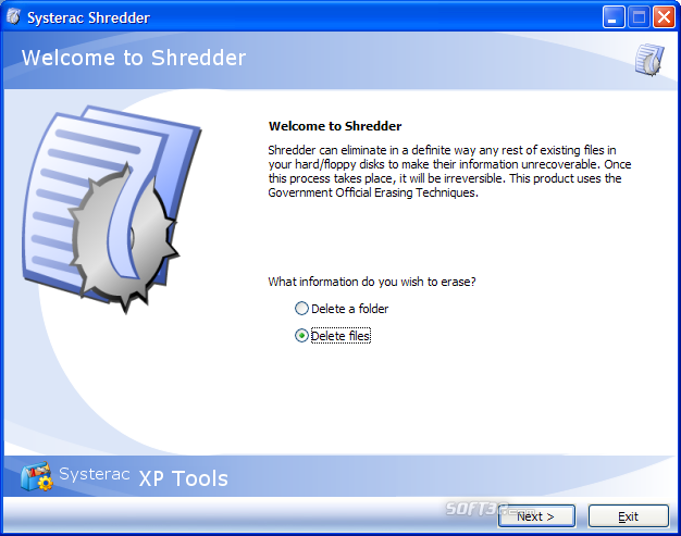 Systerac XP Tools Screenshot 9